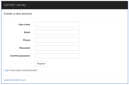 ASP NET Identity Authentication User Login and Registration Form