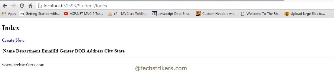 Code First Approach In Entity Framework6 With ASP NET MVC 5