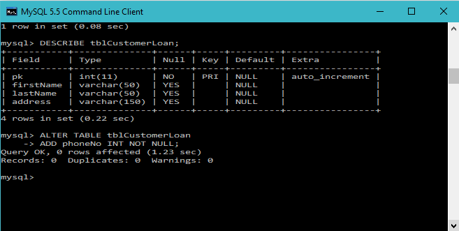 Mysql Alter Table Add Drop And Modify Column Techstrikers Com