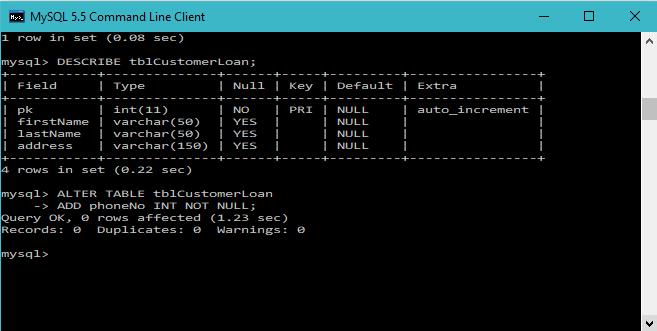 Mysql Alter Table Add Drop And Modify