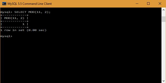 MySQL Mod Operator - techstrikers com